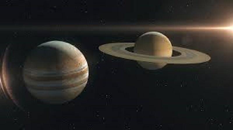 वृहस्पति र शनि ग्रह साेमबार राति  नजिक हुँदै