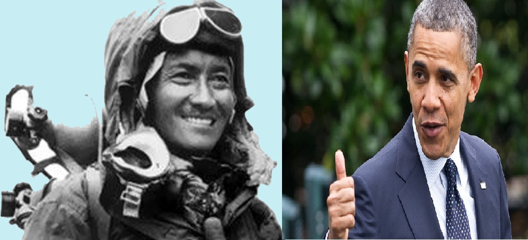 सगरमाथा आरोही तेन्जिङ शेर्पाको कथामा चलचित्र बनाउँदै ओबामा