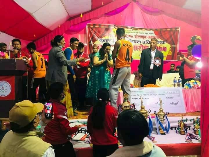 रुकुम पश्चिमले जित्यो दाङमा सम्पन्न सर्वाधिक राशिको भलिबल प्रतियोगिता