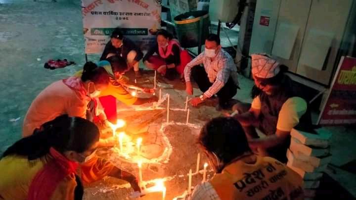 परोपकार यूवा समाजको पहिलो  वार्षिकोत्समा देशभरि द्वीप प्रज्ज्वलन